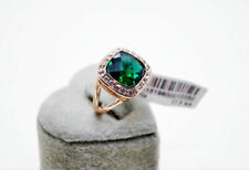 Wedding Engagement Emerald Green 18K Rose Gold simulated diamond Ring size 8