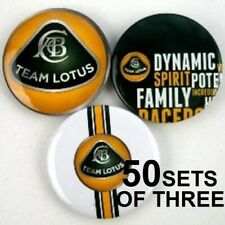 More details for pin badges set of 3 different x 50 wholesale job lot formula one 1 lotus f1 new