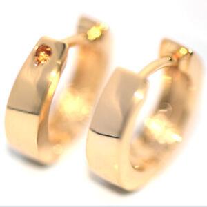 Vintage Small Hoop Huggie Earrings Gold Earrings for Womens Mens 14mm