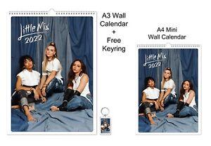 Little Mix 2022 A3 A4 Wall Office Calendar + Key Ring