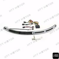 Chrome LED Windshield Chrome Trim For Harley Touring Street Glide 14 15 16 17