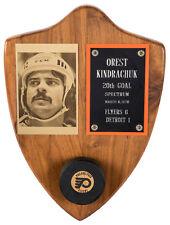 Orest Kindrachuk 1976 Philadelphia Flyers Goal Scored Puck - Hat Trick - His LOA