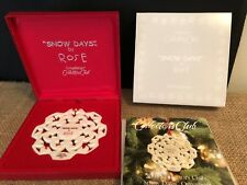Longaberger 2005 Collectors Club Snow Days By Rose Ornament