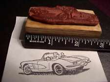 1961 Chevrolet Corvette Car Rubber Stamp-Route 66, rear