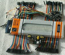 Breadboard Wire Kit with MB102 - Power Supply - M-M , F-M, F-F Jumper wires