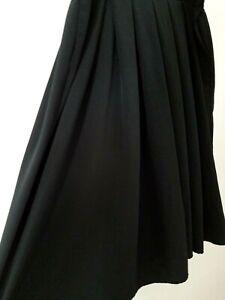 Laura & Jayne Two Skirt 22W/36 Black Solid Pleated Midi Pockets Office Uniform