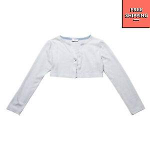 MONNALISA Cardigan Size 11Y / 146CM Melange Long Sleeve Popper Front