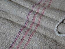 Antique European Feed Sack GRAIN SACK Red & Blue Stripe # 10024