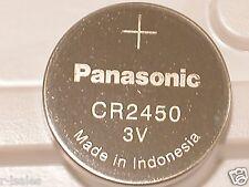 1 NEW PANASONIC CR2450 CR 2450 3v LITHIUM BATTERY EXPIRE 2024