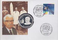 Bund Numisbrief Tonga Silbermünze Hermann Oberth 1994, Silber