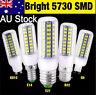 AU 4/6/10x Bright E27 E14 B22 G9 GU10 Bayonet 5730 SMD LED Corn Light Spot Bulb