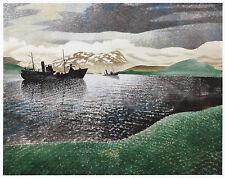 Narvic RAID Norvège 1940, Eric Ravilious WWII imprimer en 10 X 12 in (environ 30.48 cm) MONT Superbe