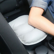 Auto  Armrest Cushion Universal Car Console Central Soft Pad Mat PU Leather Gray