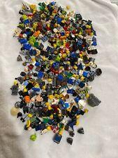 Quart Size Bag Of Lego Mini Figures Parts Torso Legs Heads Hair Helmets Legos