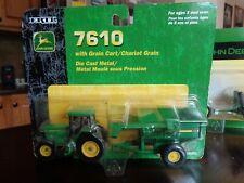 JOHN DEERE 7610 TRACTOR WITH # 500 GRAIN CART DIE-CAST RC ERTL  2003 NEW