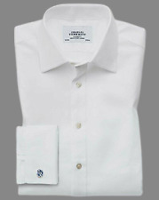 "Charles Tyrwhitt Slim Fit Egyptian Cotton Cavalry Twill Shirt 17"" TD191 GG 12"