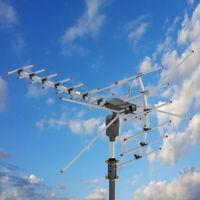 990 Miles Long Range Outdoor Amplified HDTV 1080P Digital TV Antenna HD VHF/UHF