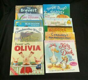LOT OF 12 MIXED CHILDREN'S KIDS BOOKS BEAR SHADOW GRANDMOTHER WINTER