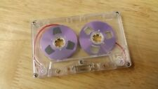 1 Purple Reel 2 Reel C60 blank cassette tape NEW 2018 retro vintage look audio
