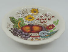 REYNOLDS by Spode 1 Coupe Cereal Bowl Fruit Flowers Double Band Scalloped Edge