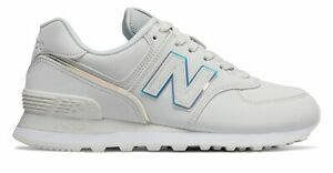 New Balance Women's 574 Shoes Grey with White