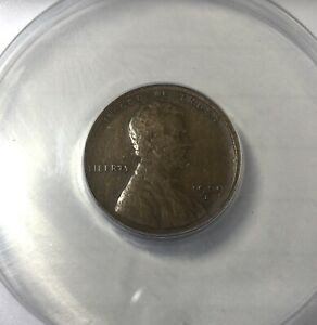 1909 S Lincoln Cent Graded Fine12  ANACS Nice Even Brown Key Date First Issue
