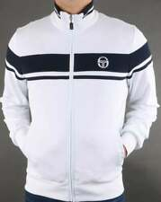 Sergio Tacchini Masters Track Top in White & Navy - tracksuit warm up jacket