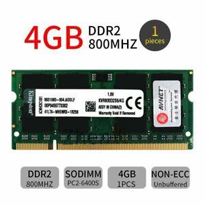 4GB 2GB 1GB DDR2 PC2-6400 800MHz KVR800D2S6/4G Laptop Memory For Kingston LOT