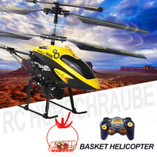 3.5CH Gyro Helicopter RTF Remote Control Airplane Kids Toys LED + Red Basket