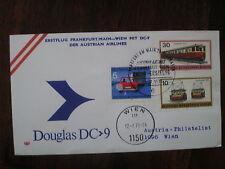 AUA FFC 843, DOUGLAS DC 9 SST SONDERSTEMPEL GERMANY AUSTRIA Frankfurt Vienna