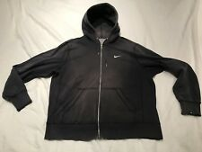 Nike Zip Up Hoody Fleece Lining Faded Well Used Destructed Frayed Mens Size XL