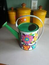 Vintage Psychedelic Retro Funky Flower Power Watering can as is