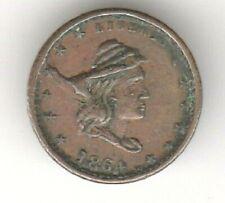 Civil War Patriotic Token 1864 Turban Head Our Army Fuld 47/332 Die break Vf
