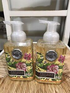 2 Michel DW PROVENCE Foaming Shea Butter Hand Soap 17.8 oz LOT OF 2 BOTTLES
