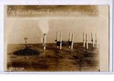 Surreal Real Photo Montage Postcard RPPC - Anti-Smoking Cigarette Funeral