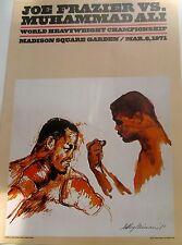 LeRoy Neiman Poster Boxing Art I Ali-Frazier World Heavyweight Championship 1971
