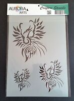 Stencil by Aurora Arts A4 (29x21cm) Phoenix 190mic Mylar craft stencil 027