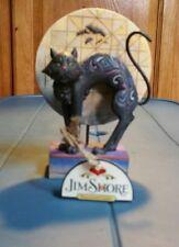 "Jim Shore ""Bad Luck"" Halloween Black Kitty Cat Moon Bats #4011059 MIB 2008"