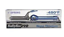 "BaBylissPRO Nano Titanium 1"" Spring Curling Iron with Sol-Gel Ceramic technology"