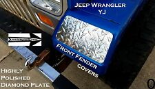 Jeep wrangler YJ Highly Polished Aluminum Diamond Plate Front Fender Covers Set