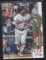2020 Topps Holiday JOSE ALTUVE Card #HW138 Astros