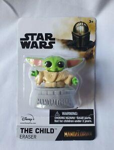 Baby Yoda The Child Grogu Mandalorian Collectible Eraser Cake Topper Star Wars