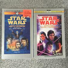 Star Wars Audio Books Cassette Lot 2 Darksaber Anderson, Heir To The Empire Zahn