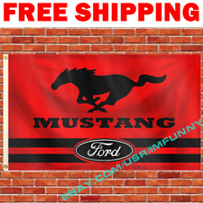 Ford Mustang Flag Banner 3x5 ft Racing Car Show Garage Wall Decor Sign Gift NEW