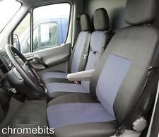 Mercedes Sprinter W906 2006+ SUR MESURE GRIS-NOIR tissu Housse de siège / selle