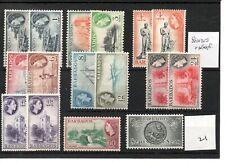 BARBADOS - Elizabeth - (21) 1953 - Selection Definitives -  mint - SG Cat £75