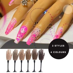 UK Silicone Nail Practice Hand Real Mannequin Female Model Display (like evie)