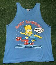 vintage bart simpson shirt 1990 Tank Top Xl Rap Tee Rock Metal Simpsons 90s