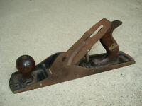 Vintage Stanley Bailey No.5 Woodworking Carpenter's Hand Plane Smooth Bottom 14""