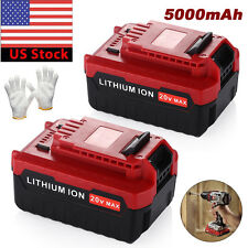 2Pack 20V 5.0Ah Li-Ion Battery for Porter Cable PCC685L PCC685LP PCC680L PCC682L